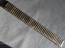 Mens Timex Stainless Steel Expansion 18mm Yellow Gold Tone Watch Band Round Ends