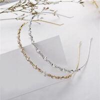 Sweet Crystal Rhinestone Pearl Hair Hoop Headband Bridal Wedding Hair Hoop Gold