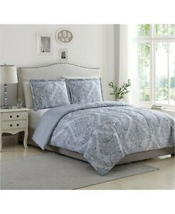 Ellison First Asia 3-Piece TWIN/TWIN XL Comforter Set Reynolds GREY D9Z177