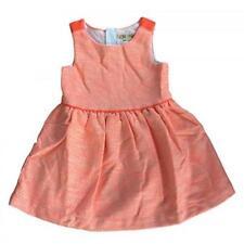 OshKosh Genuine Kids Girls Striped Orange Tweed A Line Dress M (7/8)
