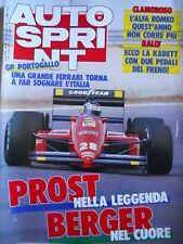 Autosprint n°39 1987 Gp Portogallo ALain Prost su Ferrari Berger  [P5]