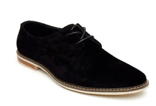 Men Retro Faux Suede Lace Up Casual Formal Office Lace Up Brogues Shoes (William