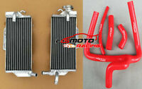Aluminum Radiator & RED Y Silicone Hose For Honda CR250 CR250R 2005 2006 2007