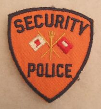 "UNIQUE WWII SIGNAL CORPS ""SECURITY POLICE"" PATCH VARIANT BLACK EMB BORDER"