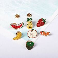 Fruit Shape Pins Banana Apple Orange Watermelon Shirt Collar Enamel Brooch Pin Whole 7 Kinds of Fruits
