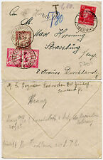 FRANCE POSTAGE DUE 1926 from GERMANY GRUNHOFF to STRASBOURG