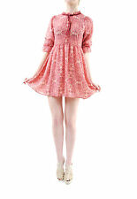 For Love & Lemons Women's New GENEVA Mini Dress Sienna Print Pink Size M BCF65