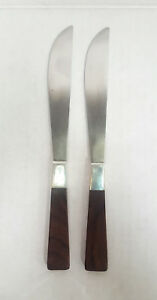 Adra Sterling Silver and Rosewood Dinner Knives by Adolph Tischler (1917-2015)