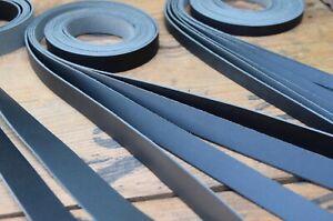 130cm long SPLIT LEATHER STRAPS 1.2-1.6mm thick Various widths available BLACK