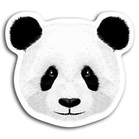 2 x 10cm Cute Panda Bear Fun Vinyl Stickers - Sticker Laptop Luggage Gift #19387