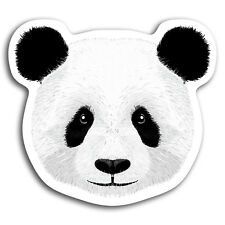 2 x 10cm Cute Panda Bear Fun Vinyl Stickers - Sticker Laptop Luggage Gift #19387