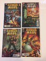 Near Complete Set Armor Wars #1 3 4 5 Marvel Comics (2015) VF