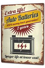 Tin Sign XXL Vintage Car Car battery metal plate plaque