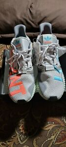 adidas Zx 4000 4D  Mens  Sneakers Shoes Casual   - Green,Grey,Orange size 11 men