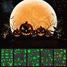 4 Sheets Halloween Luminous Tattoo Cartoon Glowing in The Dark Temporary Sticker