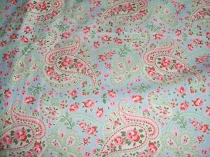 """A DOOR CURTAIN 77"""" LONG X 56"""" LINED THICK CREAM IKEA CATH KIDSTON PAISLEY PRINT"""