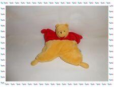 ♣ - Doudou Semi Plat Winnie Rouge Jaune Rembourré Fleur Disney Nicotoy