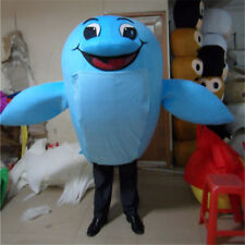 Halloween New Dolphin Fish Mascot Costume Adults Cosplay Outfits Fancy Dress