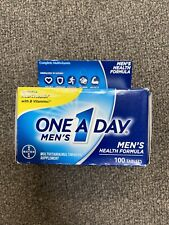 One A Day Men's Health Formula Multivitamin 100 Tablets Heart Health Exp 08/20