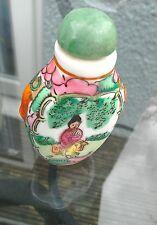 Vintage Oriental tabaco botella con cuchara