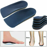 3/4 Orthotic Arch Support Insoles Plantar Fasciitis Fallen Flat Feet Foot Care