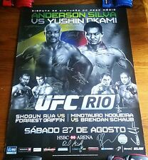 UFC 134 Anderson SILVA Shogun RUA Nogueira SBC Poster 27x39 RARE Signed By