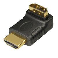 HDMI Verbindungsstück Adapter abgewinkelt 90 Grad 90° Winkelstecker High Quality