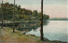 1909 Postcard - The Lake looking North - Mohegan Park Norwich CT