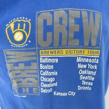 Milwaukee Brewers Vintage T-Shirt XL 1989 American League Victory Tour Brew Crew