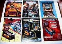 Lot Of 6 ORIGINAL NOS PINBALL MACHINE Flyers POLICE FORCE BAD CATS T3 DM set #6