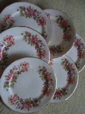 Vintage Colclough china Wayside tea plates x 6 Honeysuckle beautiful
