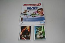 Monopoly Star Wars The Clone Wars Game Replacement Jedi Sith cards Rules booklet