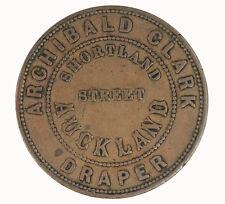 New Zealand 1857 Archibald Clark Penny Token VF