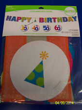 The Big Day! 30th 40th 50th 60th Adult Birthday Party Letter Banner Age Stickers