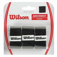 WILSON PRO OVERGRIP SOFT FOR TENNIS, SET OF 3 BLACK SOFT OVER GRIP