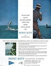 Sarasota Florida Bird Key GIANT SILVER TARPON Arvida Realty REAL ESTATE 1960 Ad