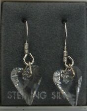 925 STERLING SILVER DROP EARRINGS MADE WITH SWAROVSKI ELEMENT WILD HEART CRYSTAL