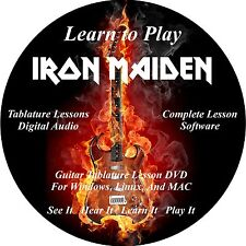 Iron Maiden Guitar TABS Lesson CD 218 Songs + 82 Backing Tracks + BONUS