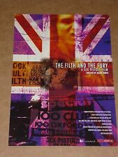 "Sex Pistols ""The Filth And The Fury""  2000 Julien Temple/Film 4 Flyer"