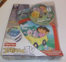 Fisher Price Dora The Explorer Irapido, Tico! Interac TV Dvd Game Brand New