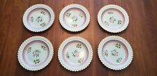 Set of 6 Vintage Calyx Ware Scalloped Edge Bowls - Adams, England