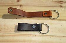 Personalized Leather Belt Loop  Key Ring fob custom