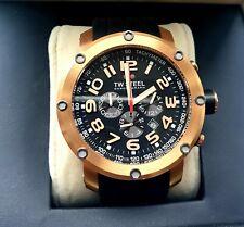 TW Steel 48mm Grandeur Tech Gold Plated Black Dial Quartz Mens Watch TW131