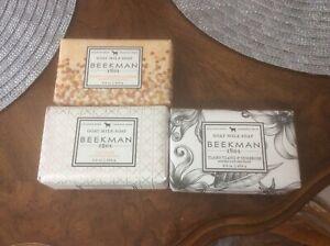 Beekman 1802 Goat Milk Soap Bar Assorted 3 Piece Bundle x 9 oz USA NEW