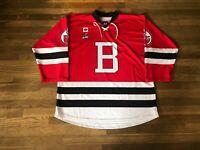 Conor Ali Brantford 99ers Red Game Used Jersey OJHL CJHL Wolves Bulldogs