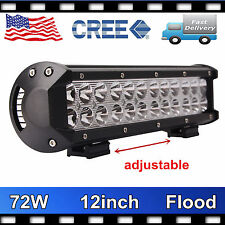 12INCH 72W CREE LED Work Light Bar Spot/Flood/Combo Offroad Truck Van ATV 12V24V
