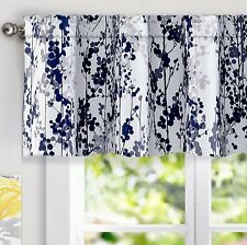DriftAway Leah Abstract Floral Blossom Ink Painting Window Treatment Valance