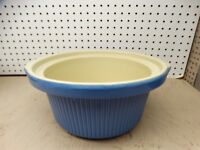 RIVAL CROCK POT SLOW COOKER BLUE STONEWARE REPLACEMENT INSERT MODEL 3355 ~ USED