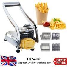 More details for potato chipper french fry slicer chip cutter veg chopper maker 2 blade steel h