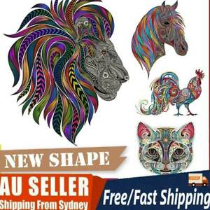 Animal Shape Wooden Jigsaw Puzzles Pieces Adult Kid Education Toy Games Gift NEW